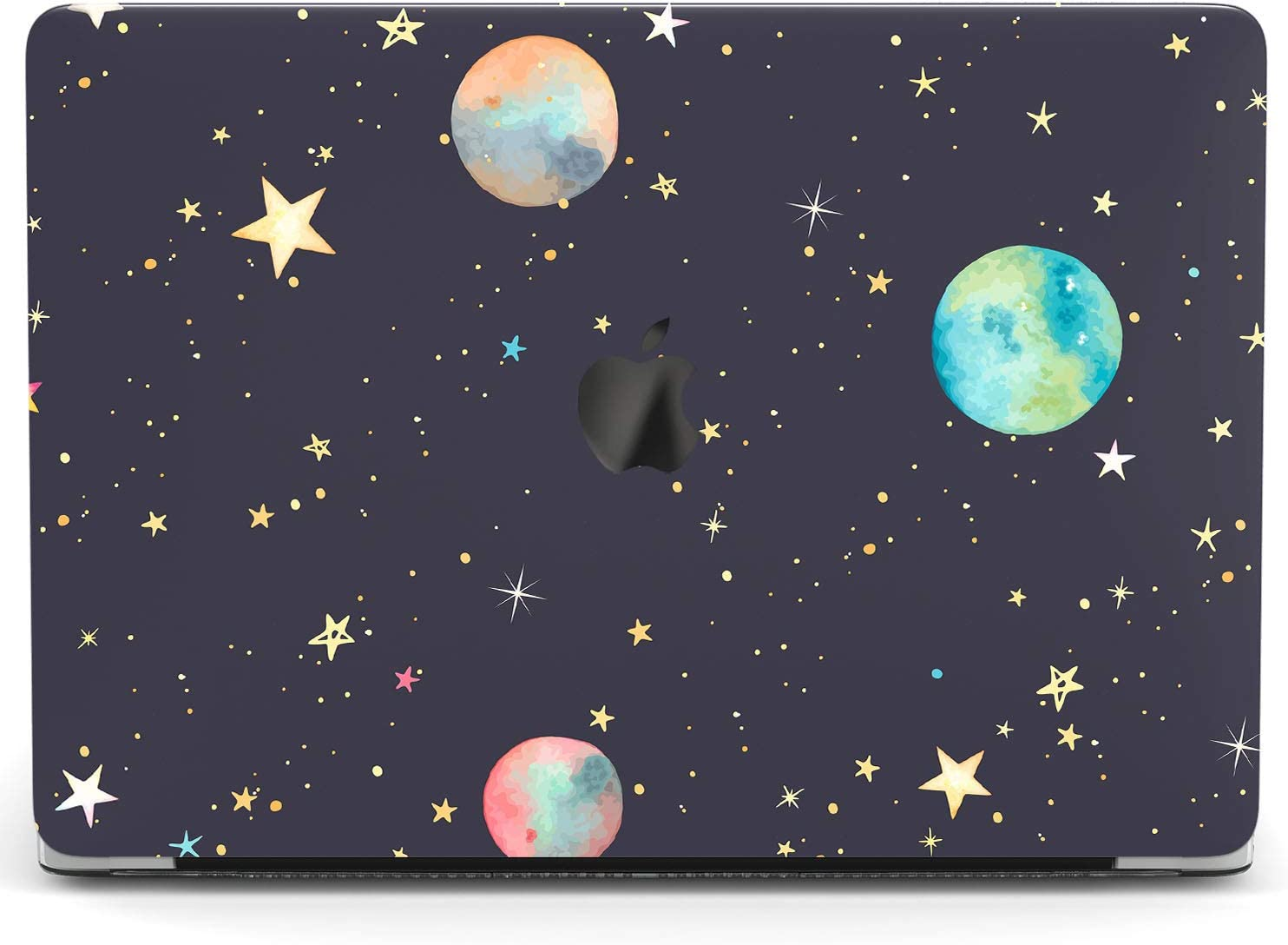 Wonder Wild Case Compatible with MacBook Air 13 inch Pro 15 2019 2018 Retina 12 11 Apple Hard Mac Protective Cover 2017 16 2020 Plastic Laptop Print Watercolor Planets Space Stars Celestial Drawing
