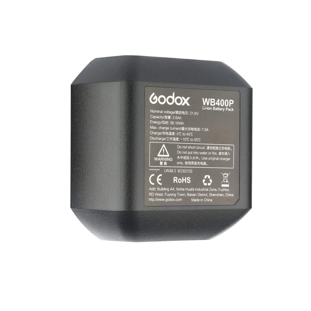 Godox WB400P Battery Replacement, 2600mAh Li-on Battery Pack for Godox AD400Pro Strobe Flash by Godox