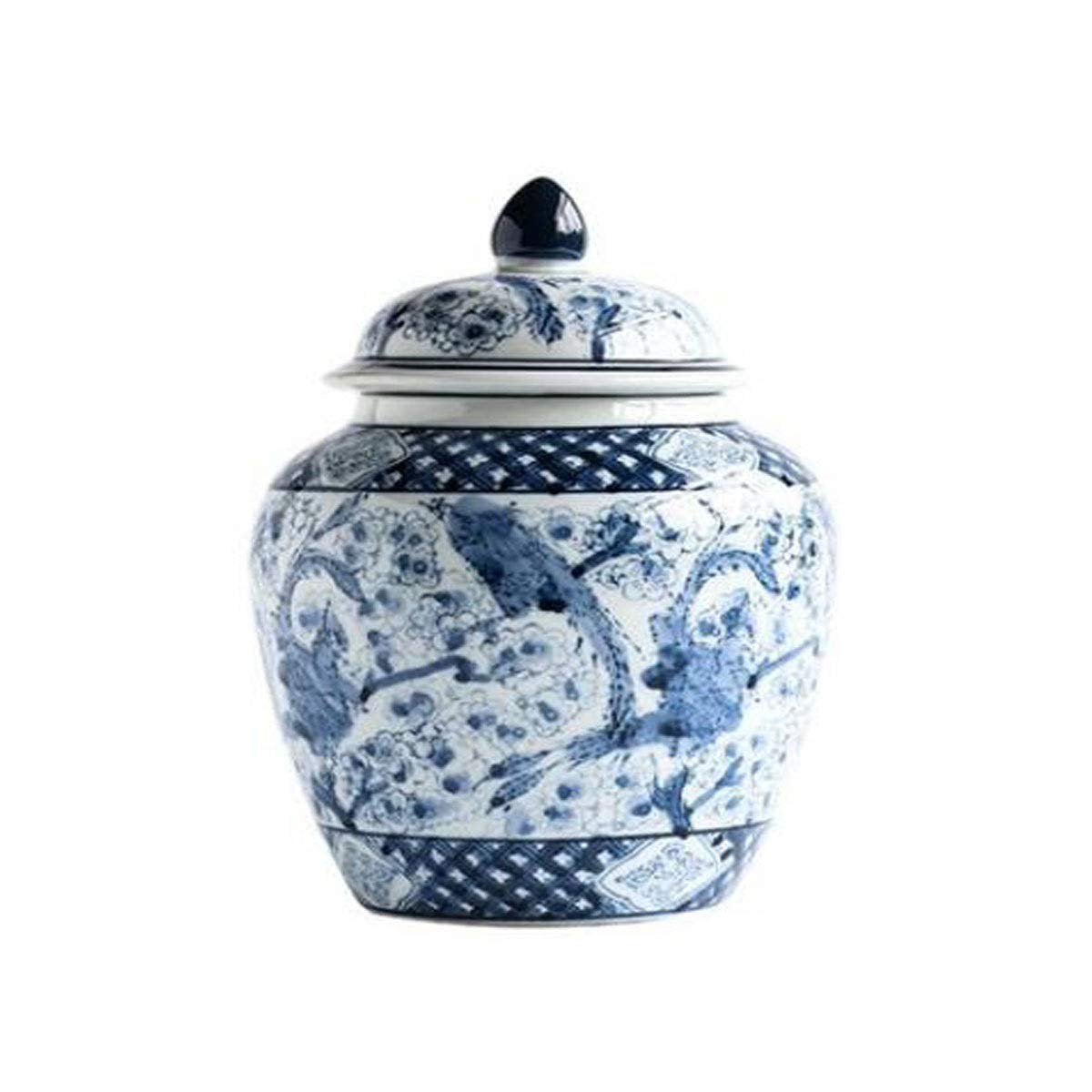 花瓶、新しい中国青と白の磁器セラミック花瓶リビングルーム装飾花瓶、17 * 26センチ (Color : A, Size : 17*26cm) B07S9MTQB7 A 17*26cm