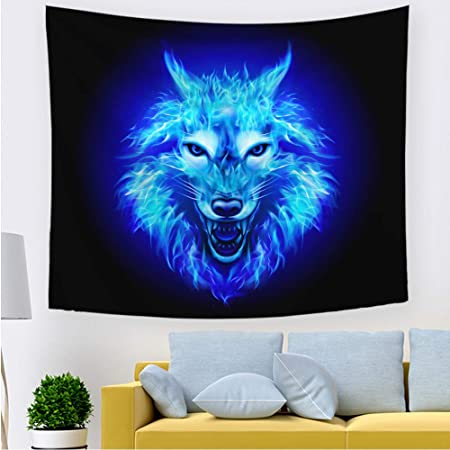mmzki Tapiz de león Fresco Colgante T 200 * 150 cm: Amazon ...