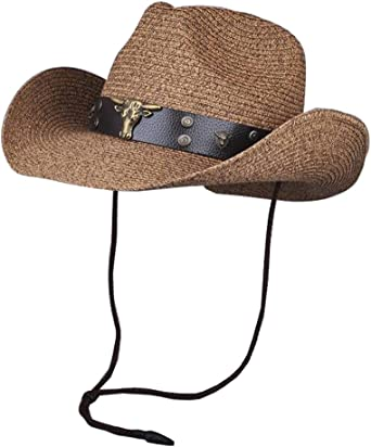 Sun Hat Costume Cowboy Hats Beach Headwear Straw Hat-A2