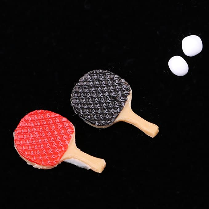 2 Pcs 1//12 Scale Tennis Supplies Suit Dollhouse Miniature Life Scenes Parts