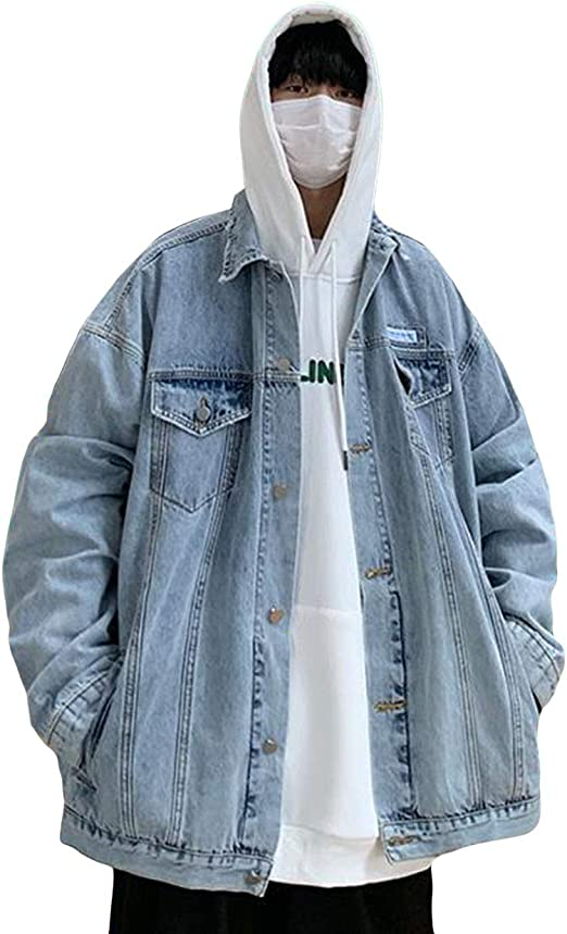 YiTongデニムジャケット メンズ 春秋 ブルゾン カジュアル フライトジャケット シンプル デニムコート ゆったり ジャンパー 学生gジャン オシャレ