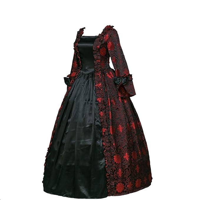 Masquerade Ball Clothing: Masks, Gowns, Tuxedos CountryWomen Renaissance Gothic Dark Queen Dress Ball Gown Steampunk Vampire Halloween Costume $128.00 AT vintagedancer.com