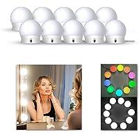 LEDGLE LED Spiegellamp Hollywood Stijl Kaptafel Spiegellampenset voor Cosmetische Spiegel, 10 LED Lampen voor Make…