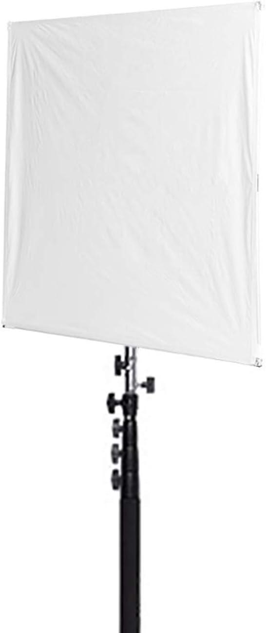 Durable Nylon Lightweight 1x 24 inch Photography Collapsible Sun Scrim Diffuser - Fovitec EZ Set-up White//Silver Fabric