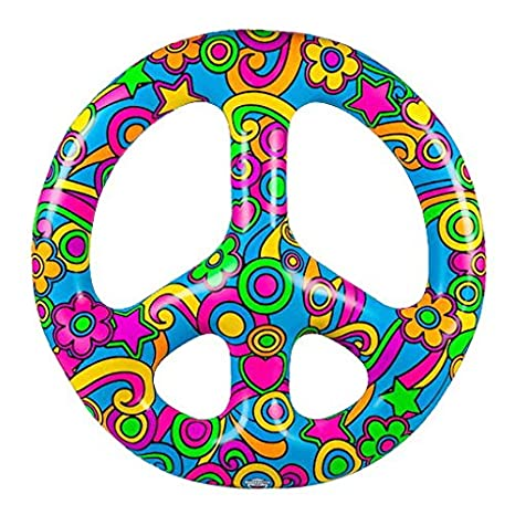 amazon com bigmouth inc giant peace sign multi person pool float 4