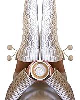 Winter Kabel Gestrickt Lange Stiefelsocken TWIFER Damen Kniestrümpfe Oberschenkel hohe Strumpf (Weiß, 50cm)