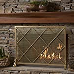 Hayden Single Panel Gold Iron Fire Screen from Great Deal Furniture
