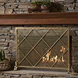 Cheap Hayden Single Panel Gold Iron Fire Screen