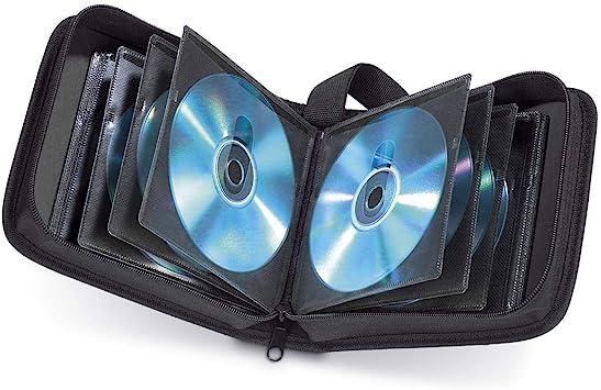 Hama CD wallet for storing 20 CDs//DVDs//Blu-rays black,00033830