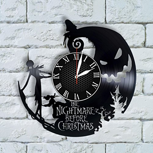 Nightmare Before Christmas Art jack and sally Clock nightmare before christmas decor birthday gift tim burton oogie boogie halloween town