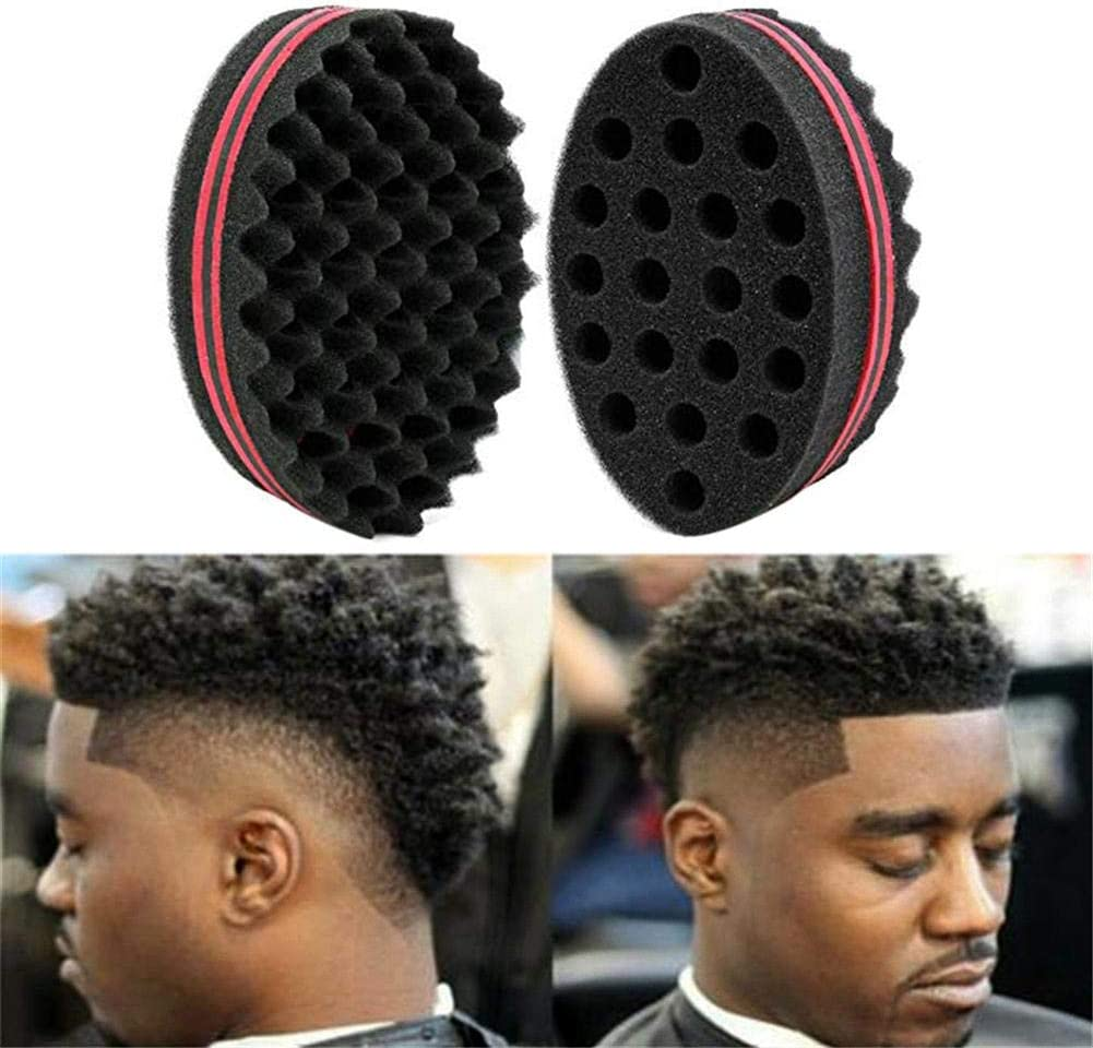 benignpoet Large Holes Hairdresser Hair Brush Sponge Coil Lock Dreads Twist Afro Curl Wave Hair Care Tool