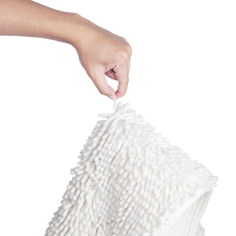 47/'/' X 26/'/' Vdomus Soft Microfiber Shag Bath Rug Extra Absorbent and Comfortable Grey, 47 X 26 Anti-Slip,Machine-Washable Large Bathroom Mat