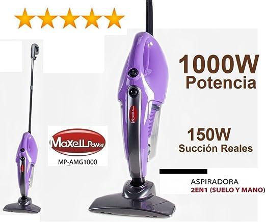 Aspirador Escoba Aspiradora con 1000 W de Potencia Reales y 150w ...