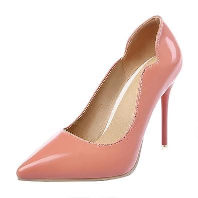 UH Damen Stiletto High Heels Spitz Elegante Pumps 10CM Absatz Party Schuhe