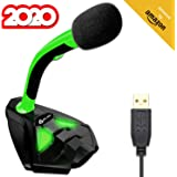 KLIM™ Voice Desktop USB Microphone Stand for Computer Laptop PC - Gaming Mic PS4 - Green - New 2020 Version