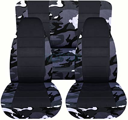 Excellent Designcovers 1987 1995 Jeep Wrangler Yj Camo Black Seat Covers Gray Camouflage Full Set Front Rear 19 Prints 1988 1989 1990 1991 1992 1993 Machost Co Dining Chair Design Ideas Machostcouk