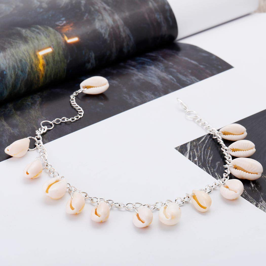 Tgirls Boho Shell Conch Anklet Chain Seashell Cowrie Foot Chain Bracelet Beach Jewelry for Women and Girls