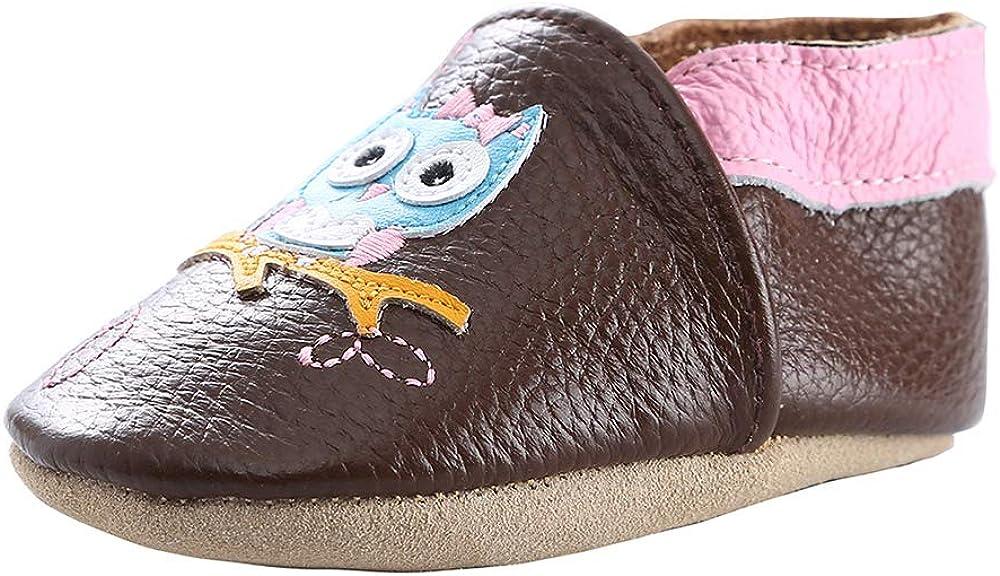 koshine Chausson Cuir Souple B/éb/é Chaussures Enfant Dessin Anim/é Fille Gar/çon 0-24 Mois