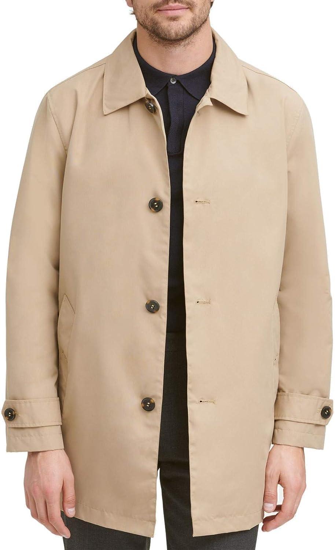 Cole Haan Signature mens Classic Stand Collar Rain Jacket