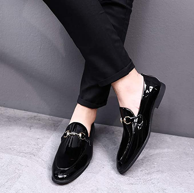 Bright New One-legged Lazy Shoes Leather Casual Loafers Men Shoes 100% Guarantee Shoes