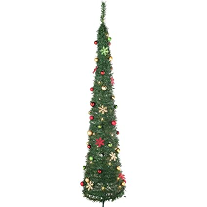 Pop Up Holly And Ivy Green Christmas Tree 6ft By Argos Amazon Co