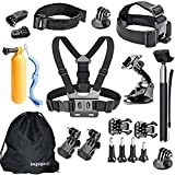 JingXiGuoJi 20-in-1 Accessories Kit Bundles for GoPro Black Session Hero 6 5 4 3 2 1 SJ5000 Action Camera