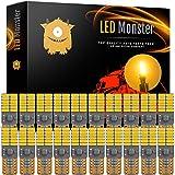 rv 2015 - LED Monster 20-Pack Amber LED Light Bulbs RV Trailer 24-SMD T10 921 194 168 2825 12V Backup Reverse Interior Side Trailer (Amber)