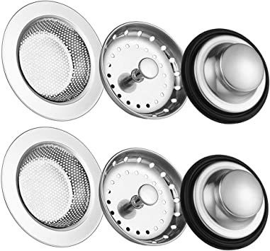 6 Pack Of Kitchen Sink Stopper Strainer Carry360 Anti Clogging Stainless Steel Sink Disposal Stopper Perforated Basket Drain Filter Sieve Or Keep Water For Kitchen Sink Drain Amazon Com