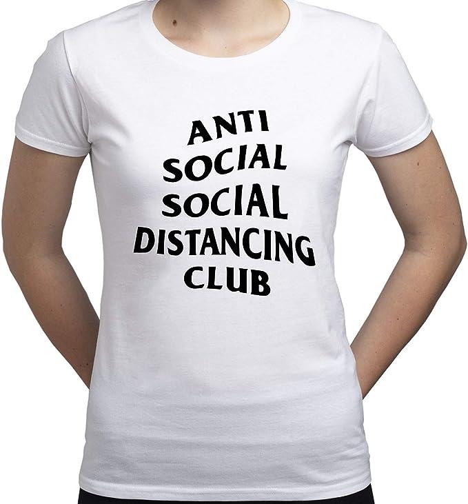 Social Distance Anti Social Camiseta para Mujer: Amazon.es: Ropa y accesorios