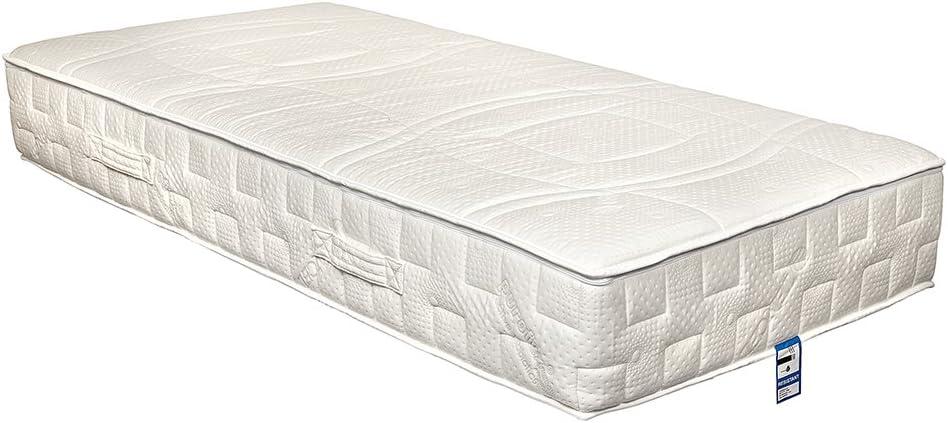 Látex sentido por Yanis 24cm colchón de látex suave Bellagio 100% natural Talalay, tela, beige, 90x200cm
