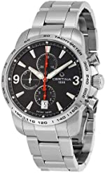 Certina Mens Chronograph C001.427.11.057.00 Gent Automatic Analog Automatic Silver Band Watch