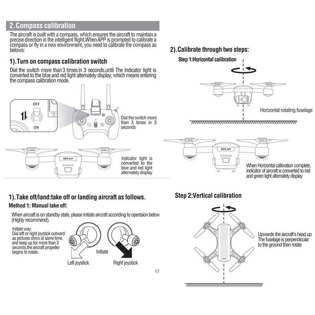 Uav Drone - Chshe ★★ C-Fly Dream Gps Wifi Fpv, Cámara de 1080P Hd, Drone de Flujo Óptico, Batería Incluida + Soporte + Control Remoto
