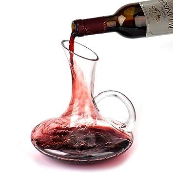 Carafe à Vin Queta - Carafe à Décanter en Cristal Soufflé à La Main avec Une 388356953ef7