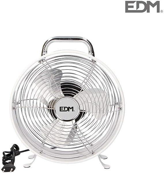 Ventilador sobremesa vintage 30W blanco EDM: Amazon.es: Hogar
