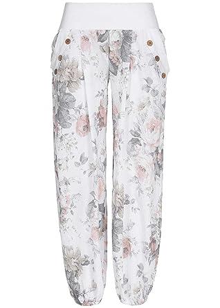 Styleboom Fashion Damen Sommer Hose Harem Style Blumen