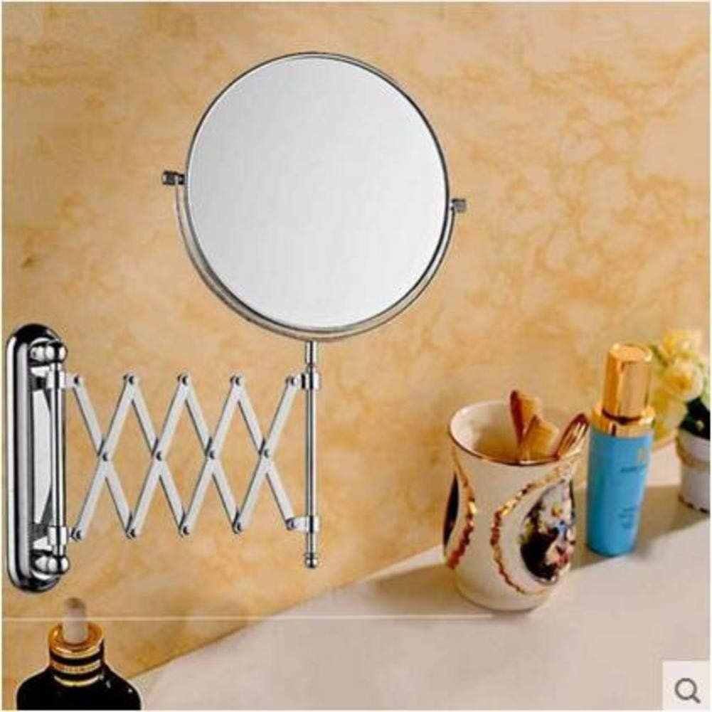 NAERFB Expandable Makeup Mirrors, Bathroom Vanity Mirror with on Both Sides of The Wall Mounted. A- and Mirrors Folding Toilet Extendable Mirrors in Copper Makeup/Shaving Mirrors Mirrors - a