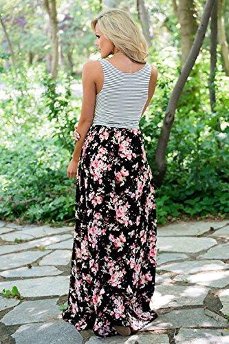 Dresses Matching Black Dress Girl's Me and Women Dress Umeko Set Mommy amp; Maxi Floral R0Aqtx