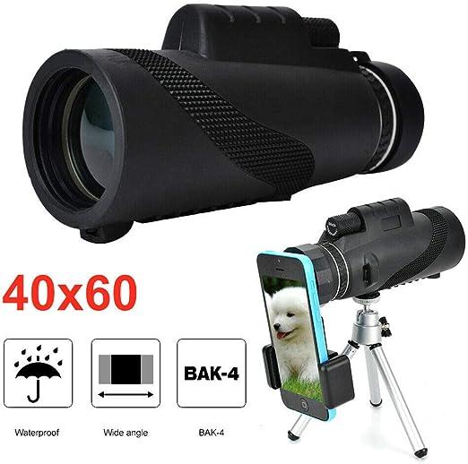 JUEYAN® Telescopio Monocular 40 x 60 HD Monocular Impermeable ...