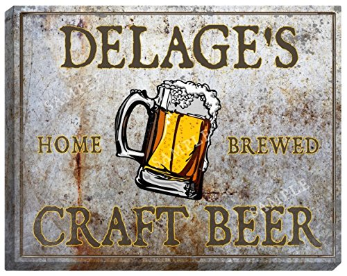 delages-craft-beer-stretched-canvas-sign-24-x-30