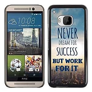 Be Good Phone Accessory // Dura Cáscara cubierta Protectora Caso Carcasa Funda de Protección para HTC One M9 // Sky Cityscape Text Poster