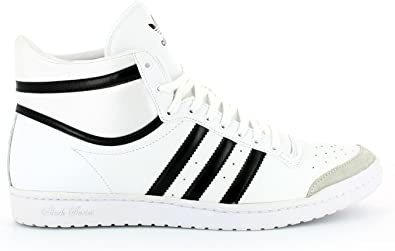 adidas Basket montante top¨ten hi sleek blanc noir cuir