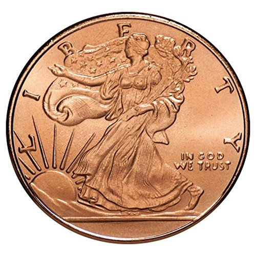 Walking Liberty  Presston Mint  1 Oz  999 Pure Copper Challenge Coin
