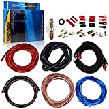 GENSSI 4 Gauge Amplifier Installation Kit with High Performance RCA Interconnect and Speaker Wire 4AWG Amp