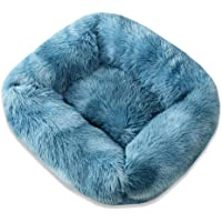Chunlailiu Pet Nest Soft Plush Kennel Cat Dog Bed Warm House Puppy Cushion (Blue M)