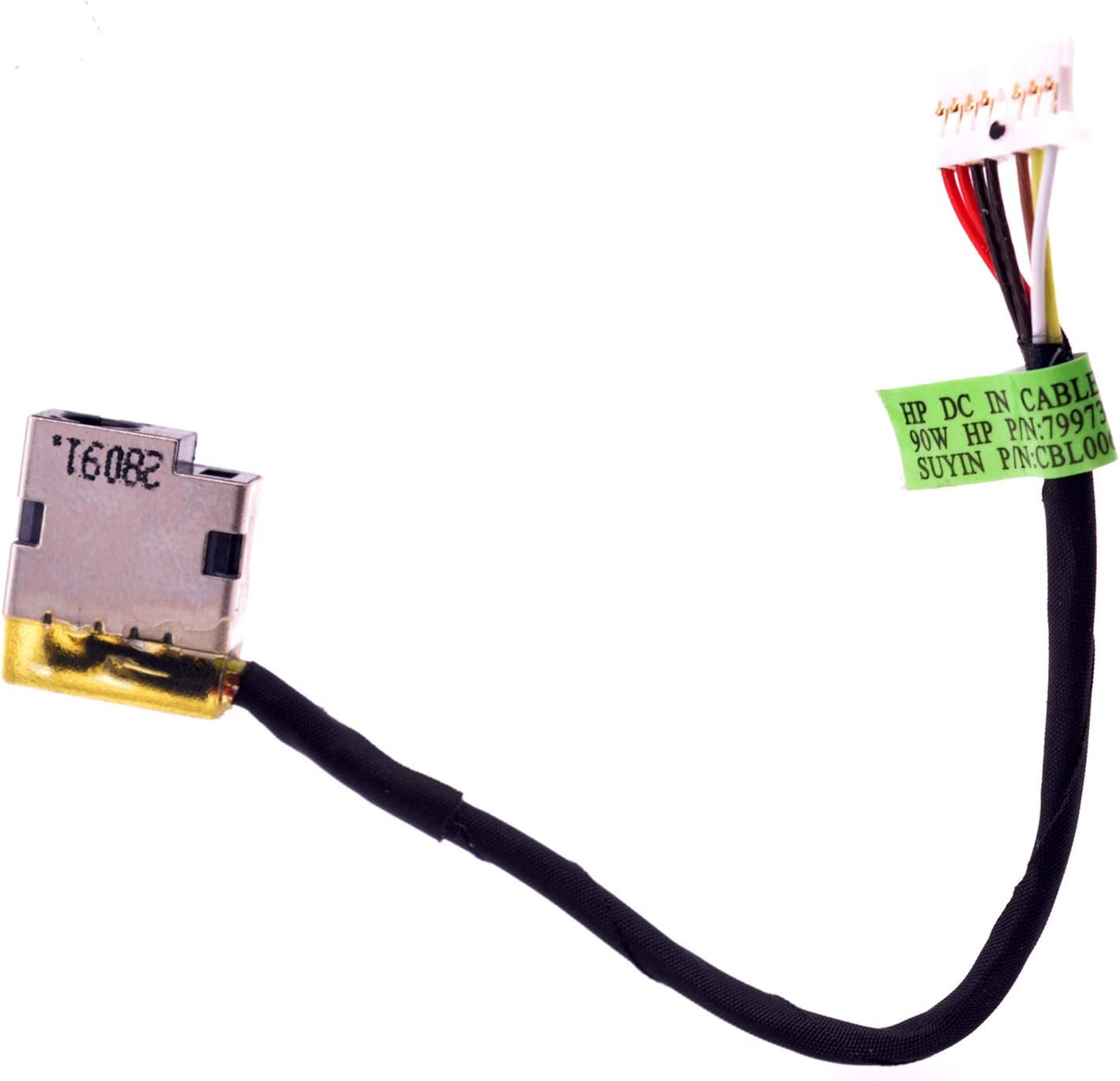 1x  NEW for HP 15-AC143WM 15-AC156NV DC power Jack Cable 799736-Y57 799736-F57