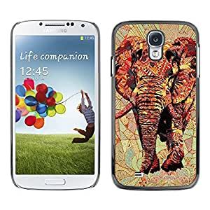 [Neutron-Star] Snap-on Series Teléfono Carcasa Funda Case Caso para Samsung Galaxy S4 [Arte Africa Red Majestic Jungle]