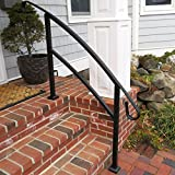 Railing Now - Midway 4FT Transitional Handrail (Matte Black)