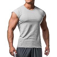 Heren Atletisch T-shirts Tees Korte mouw Spier Besnoeiing voor Bodybuilding Training Opleiding Fitness Tops Ronde hals…